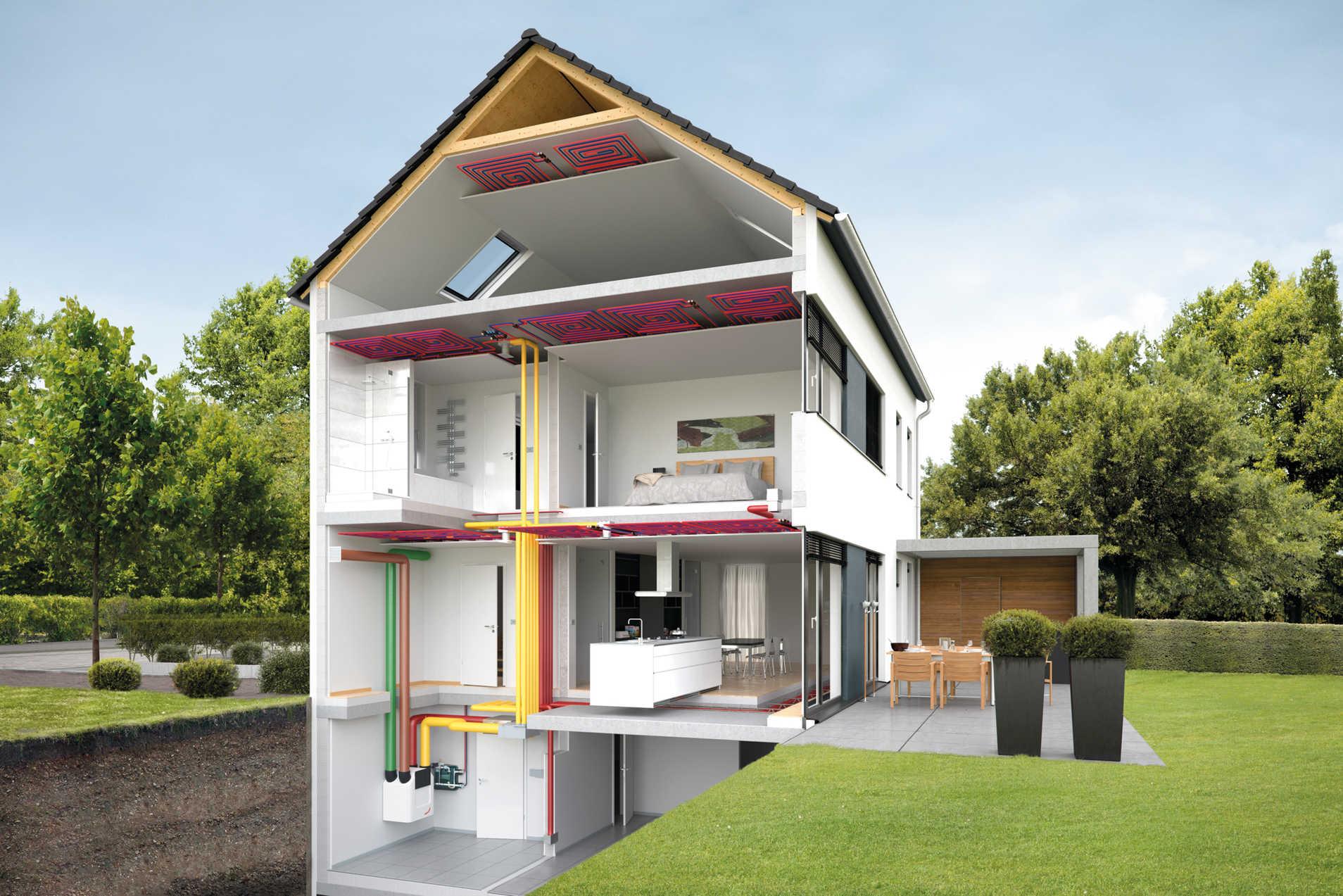 Ventilazione comfort per spazi abitativi zehnder group italia s r l - Tubi a vista in casa ...